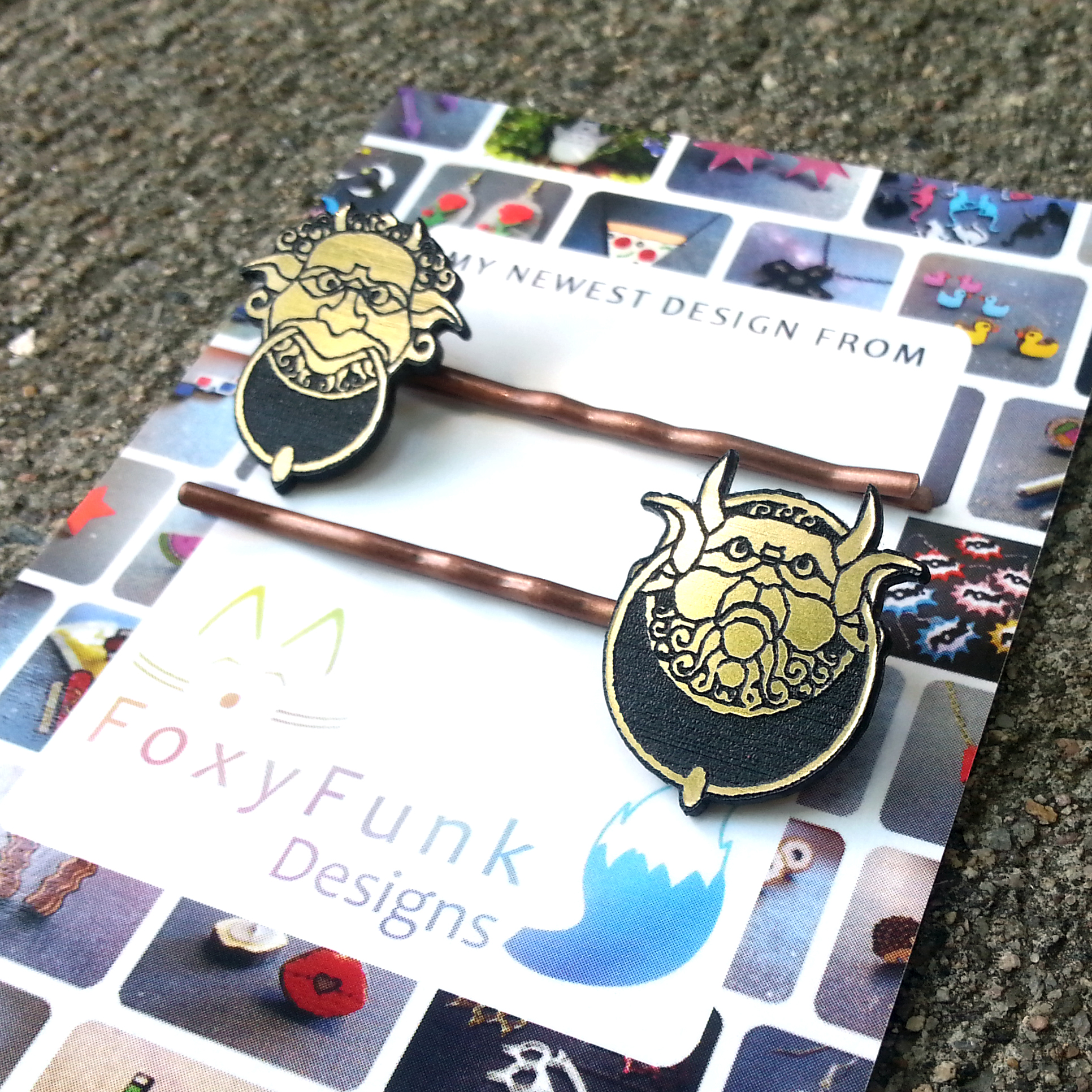 Labyrinth Door Knocker Hair Pins! Limited RUN!!