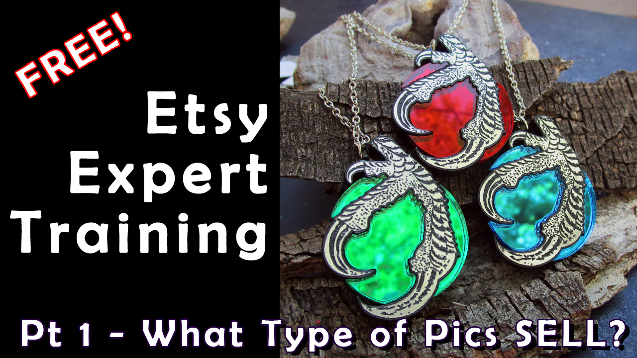 free expert etsy trainin part 1 what type of pics sell with claw picture necklaces