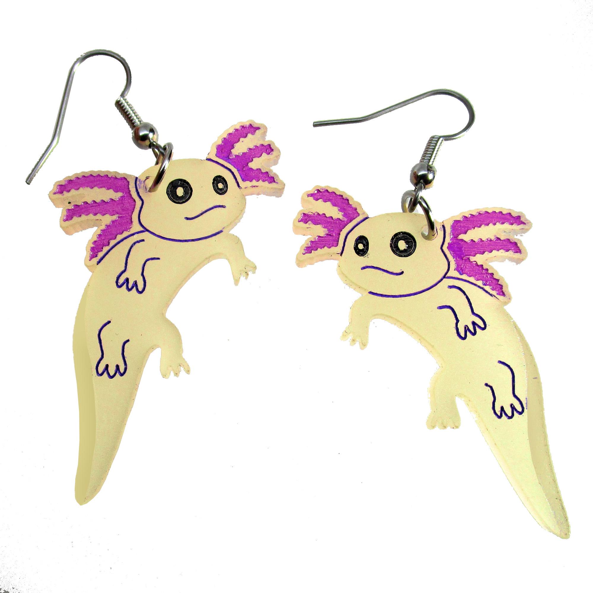 Axolotl earrings